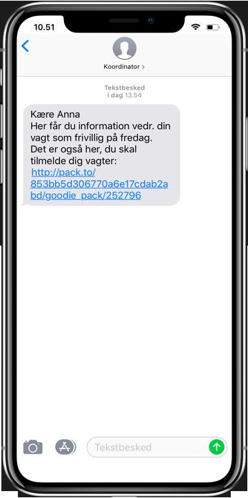 Frivillig sms da